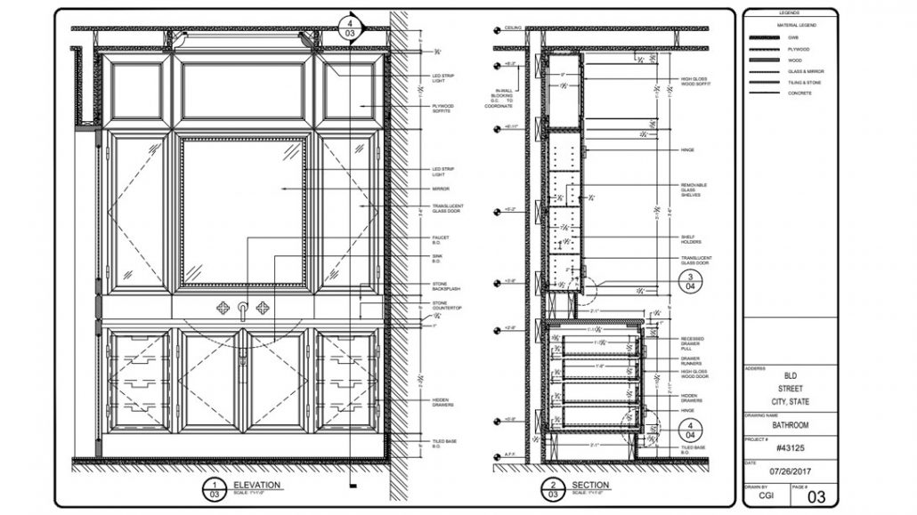 Millwork and Shop Drawings for Furniture