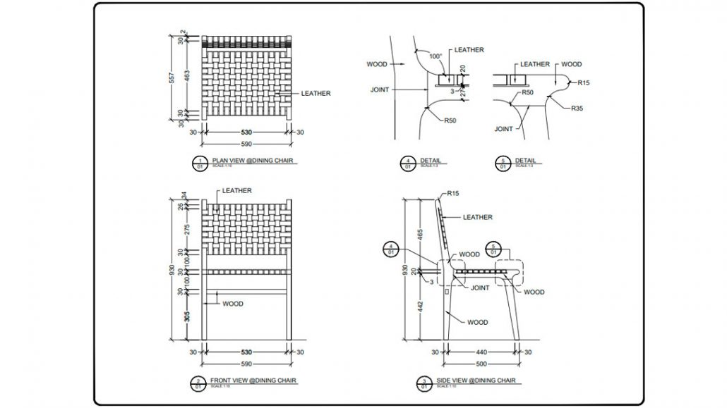 Furniture Drawings for Product Design