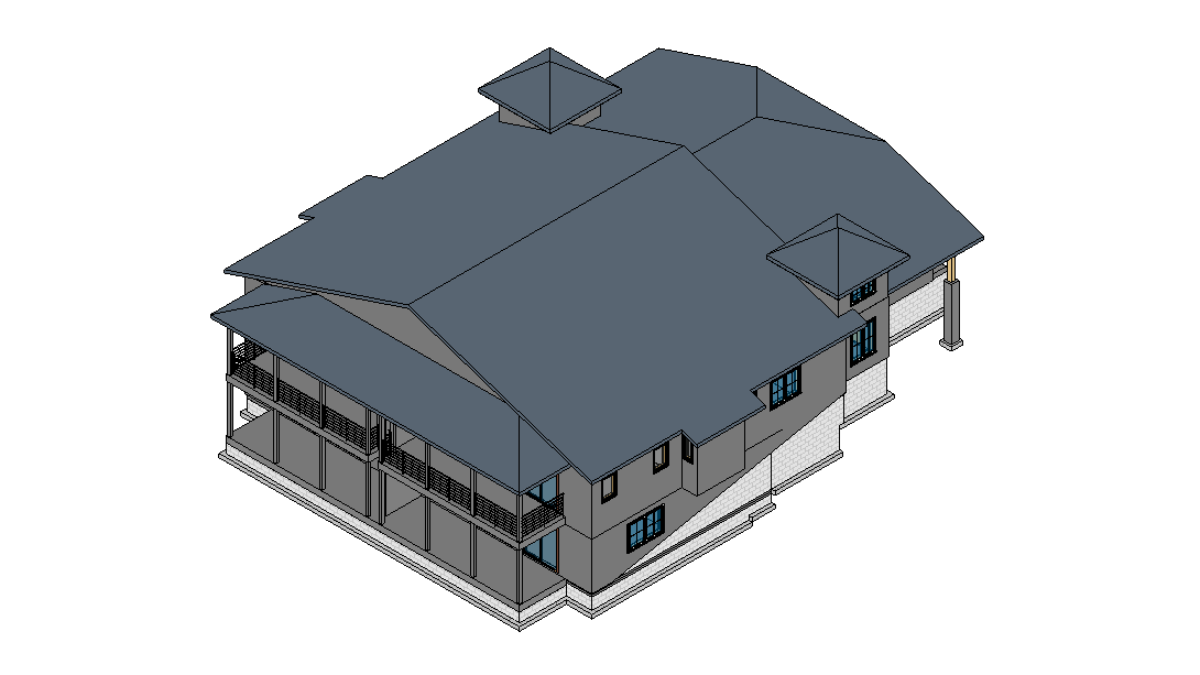 3D Model of a House Construction