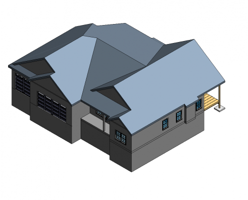 Revit 3D Model for a Building Creation