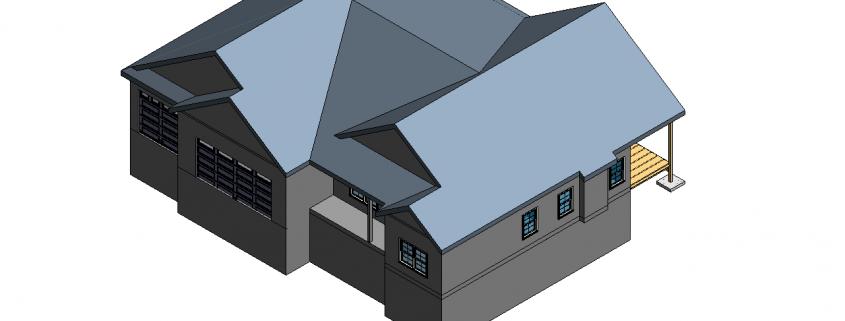 Revit 3D Model for a Building Creation