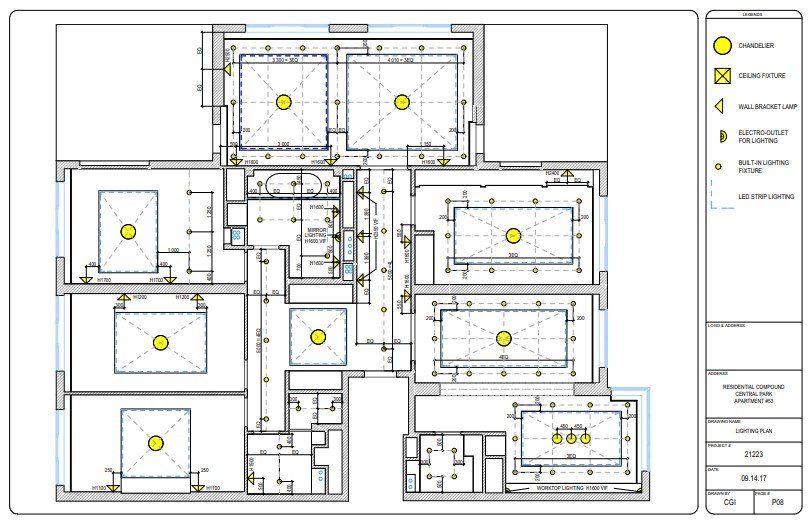 CAD Drawings for Interior Lighting