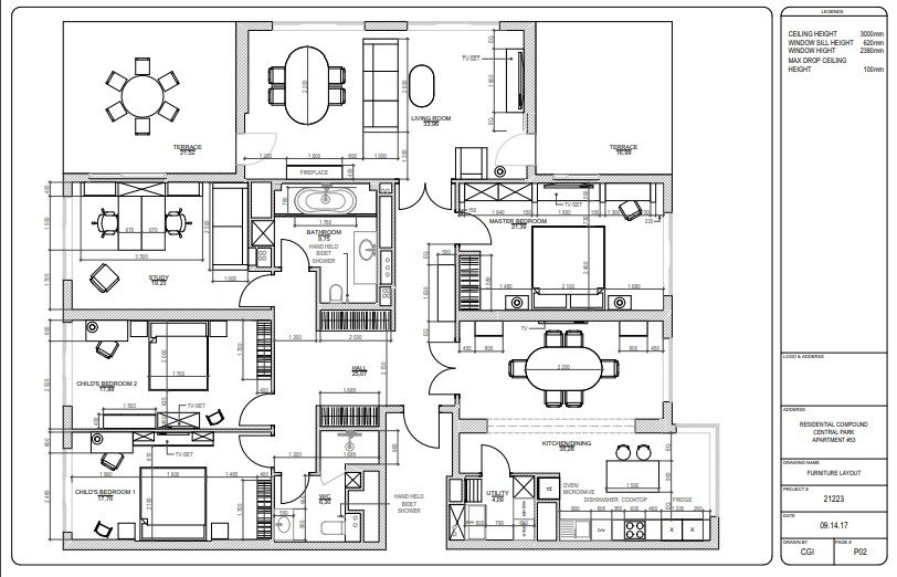 Furniture Layout in CAD Drawings