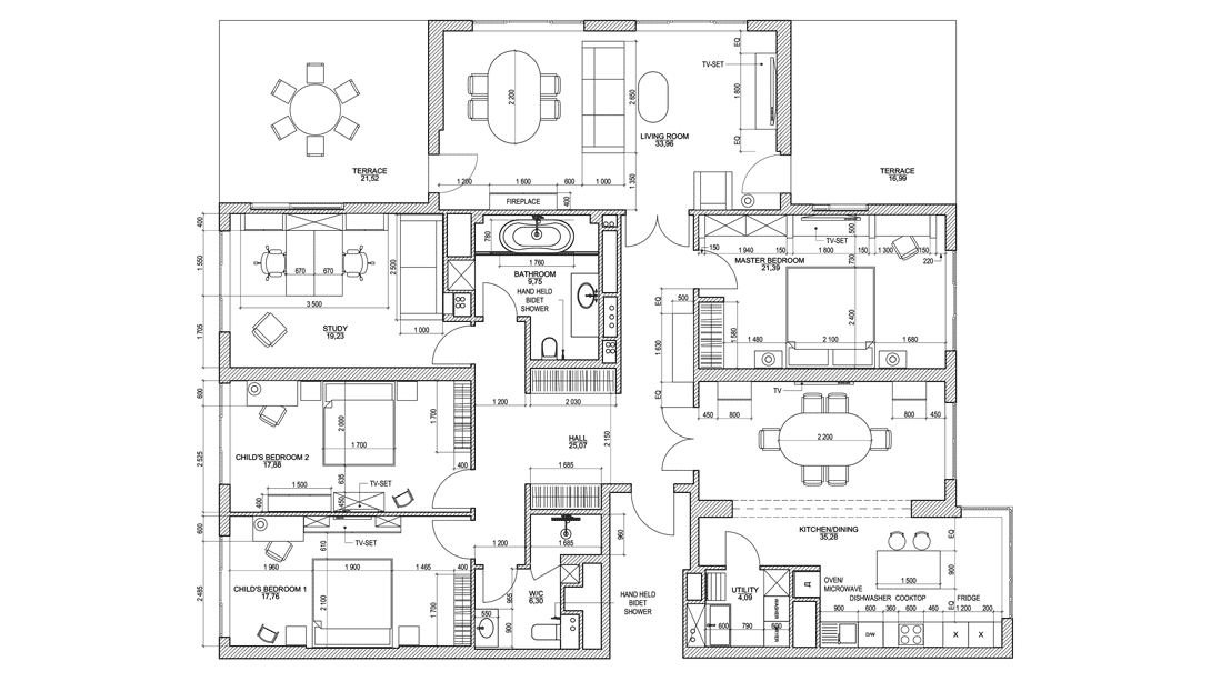 Interior Drawings for Design Services