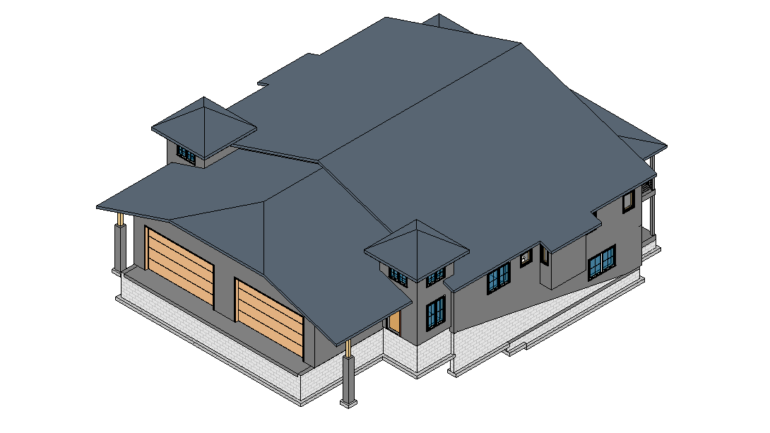 3D BIM Modeling for a House Project