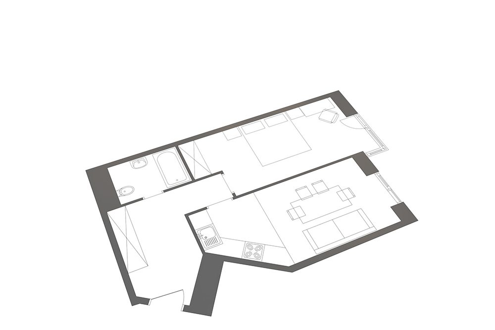 Before-3d space plan