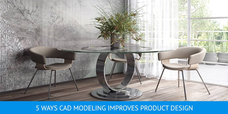 3D Modeling for Chairs and a Glass Table Design