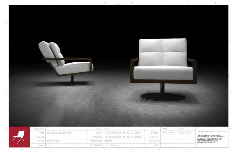 White Chair 3D Model Serves as Reference for Millwork Drawing Services