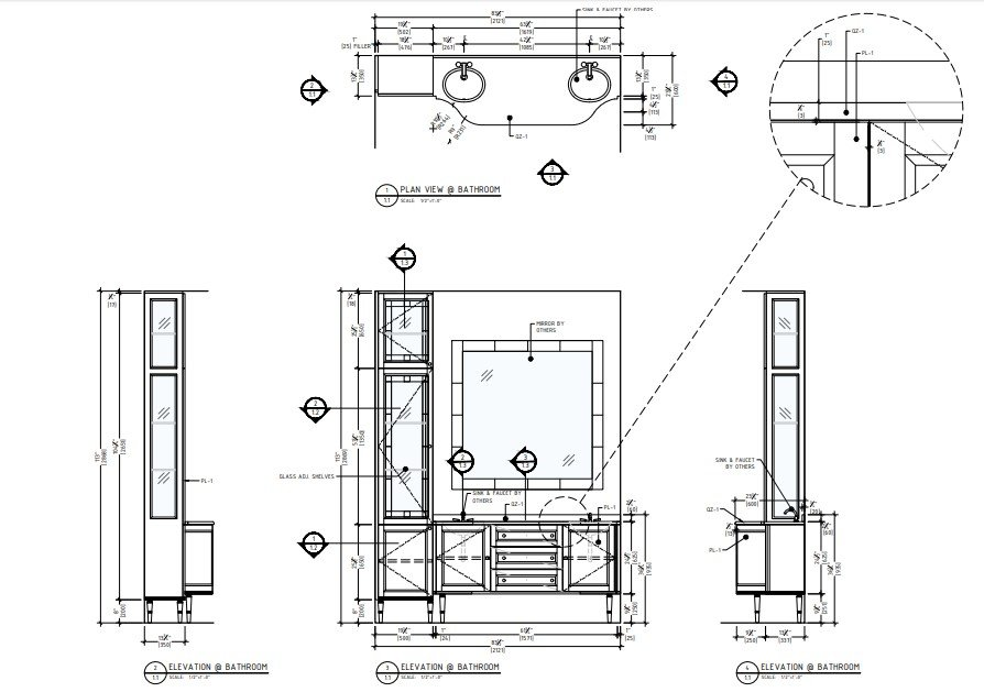 Millwork Drawings for Design Projects