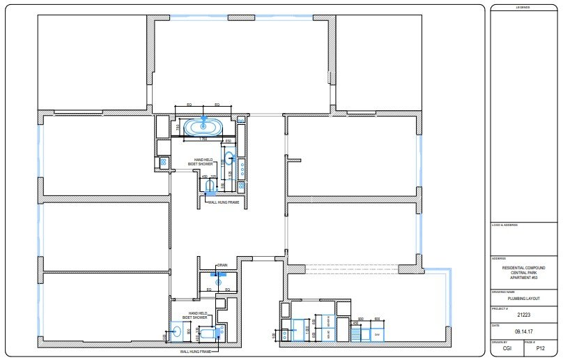CAD Interior Drawings for Designing Work