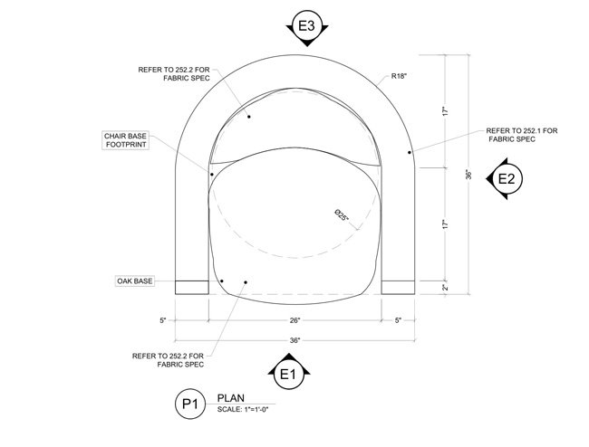 Plan View for a Millwork Project