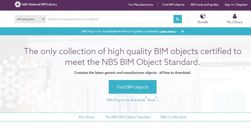 NBS National BIM Library and Free Revit Families