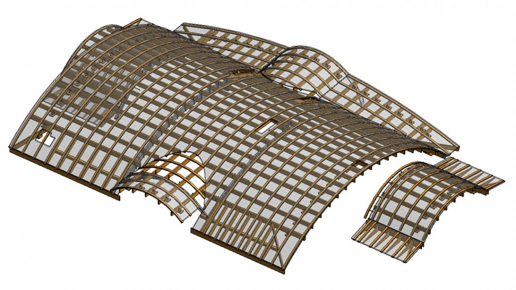 3D Visualization for a Glass Roof of a Building