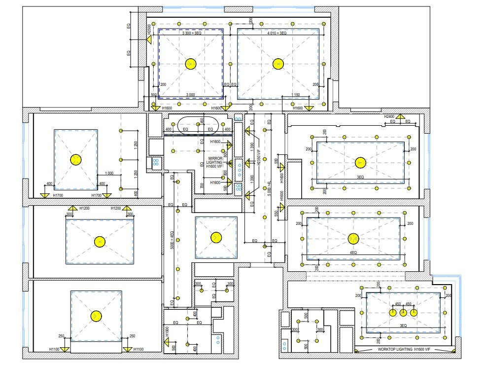 CAD Drafting Services for Lighting Scenarios