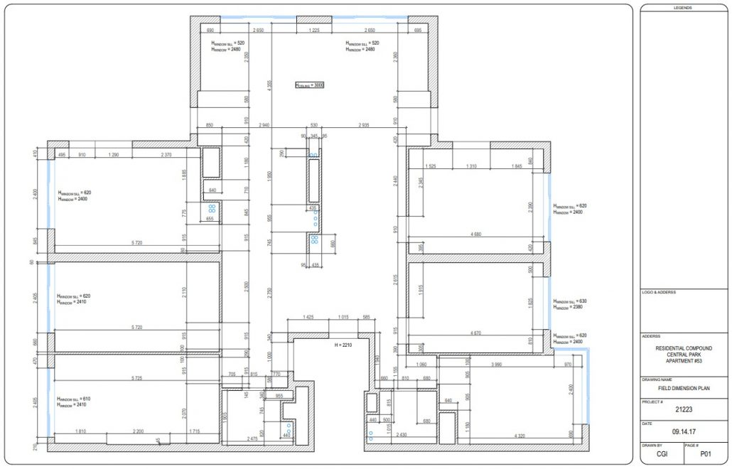 Wall Elevations for a Residential Design Project