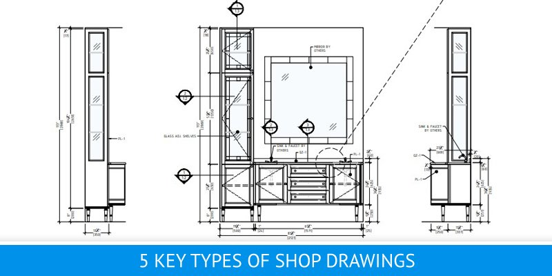 Millwork Drafting for Bathroom Furniture
