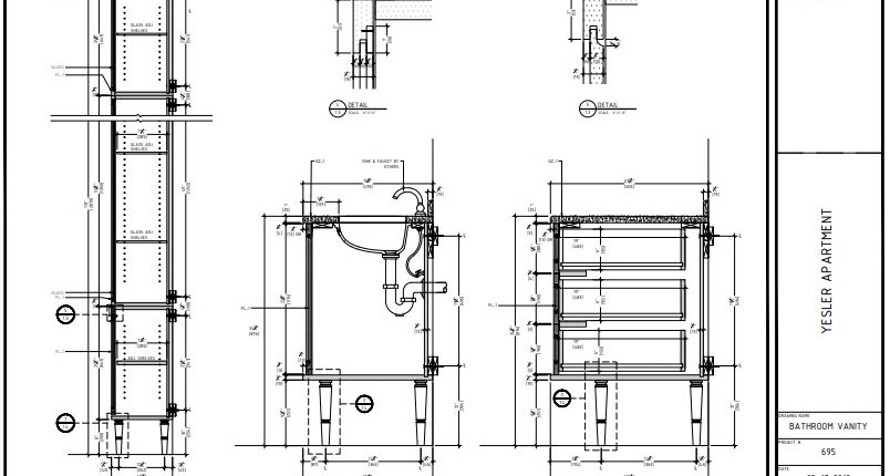 Elevation for a Bathroom Vanity