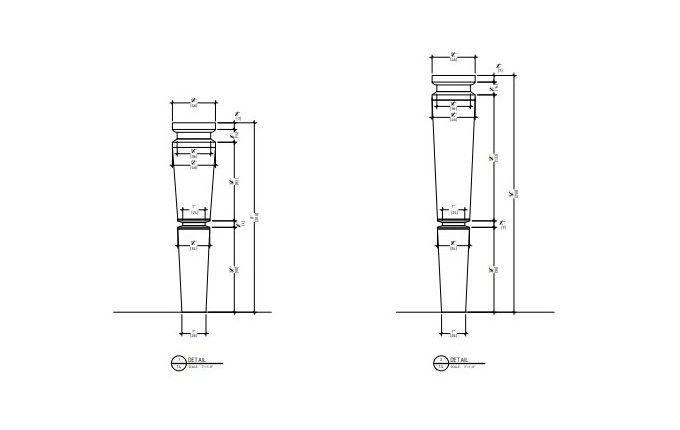 Detail Drafts for Bathroom Vanity's Legs