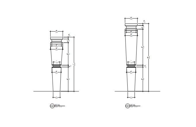 Detail Drawing for a Bathroom Furniture