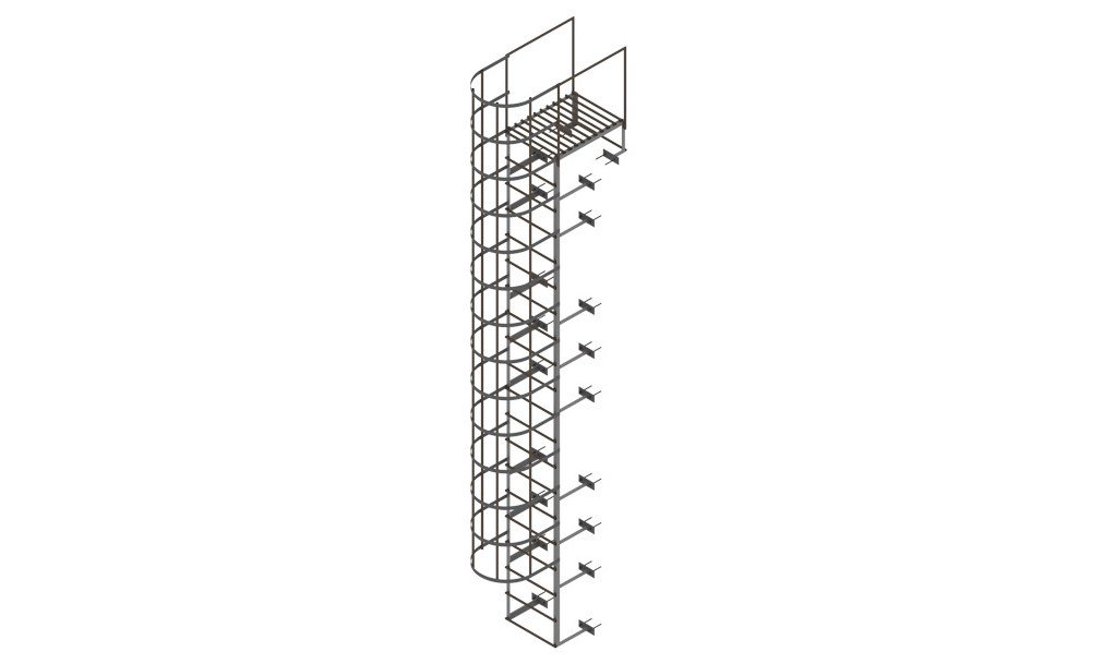 A Ladder Revit Family for an Architectural Project