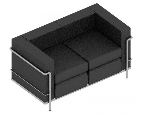 Revit Models: A Leather Sofa