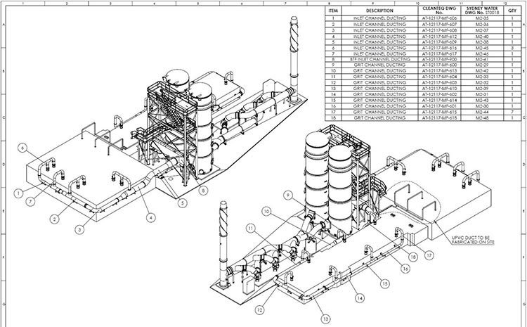 CAD Drafting for a Mechanical Detail