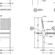 Millwork Shop Drawings for a Chair Design