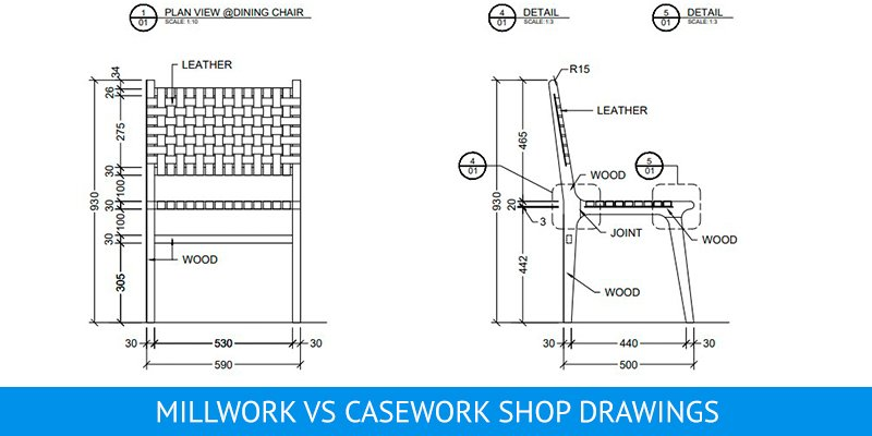 Millwork Shop Drawing for a Chair