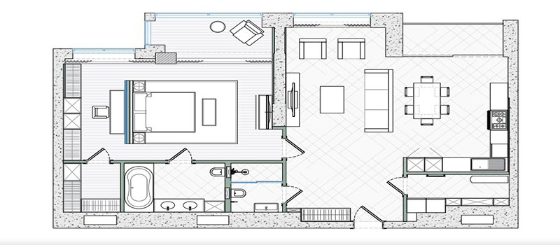 Drawing Services for an Interior Design Project