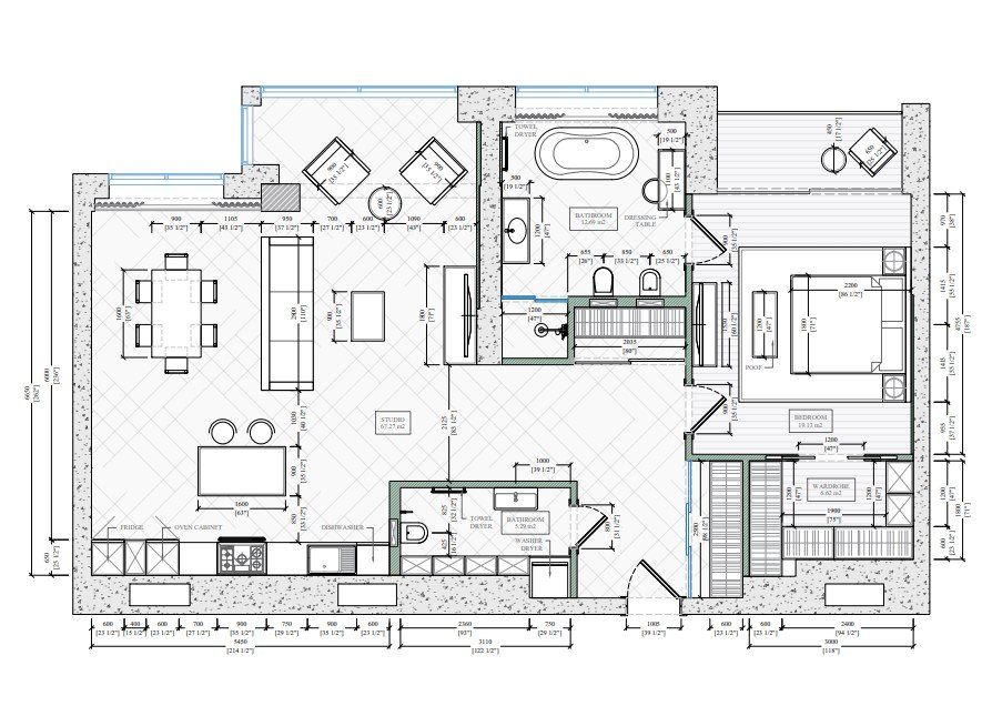 2D Floor Plans for a Rebuilding Project