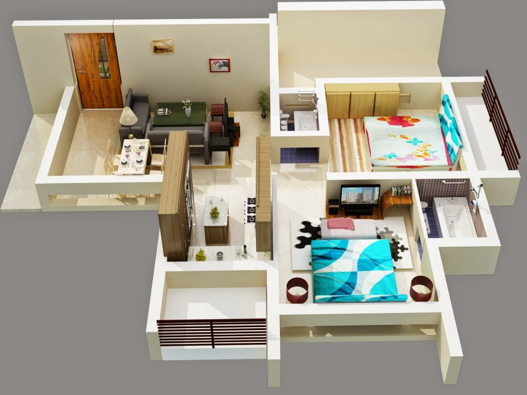 3D Floor Plan With Revit Models for a Design Project