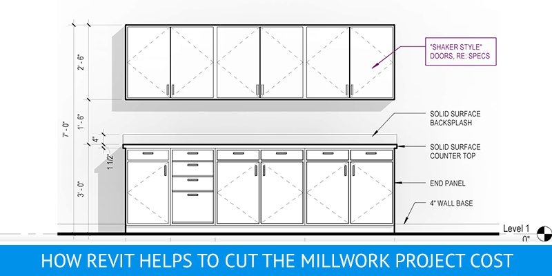 Kitchen Cabinets Revit Models for a Millwork Project