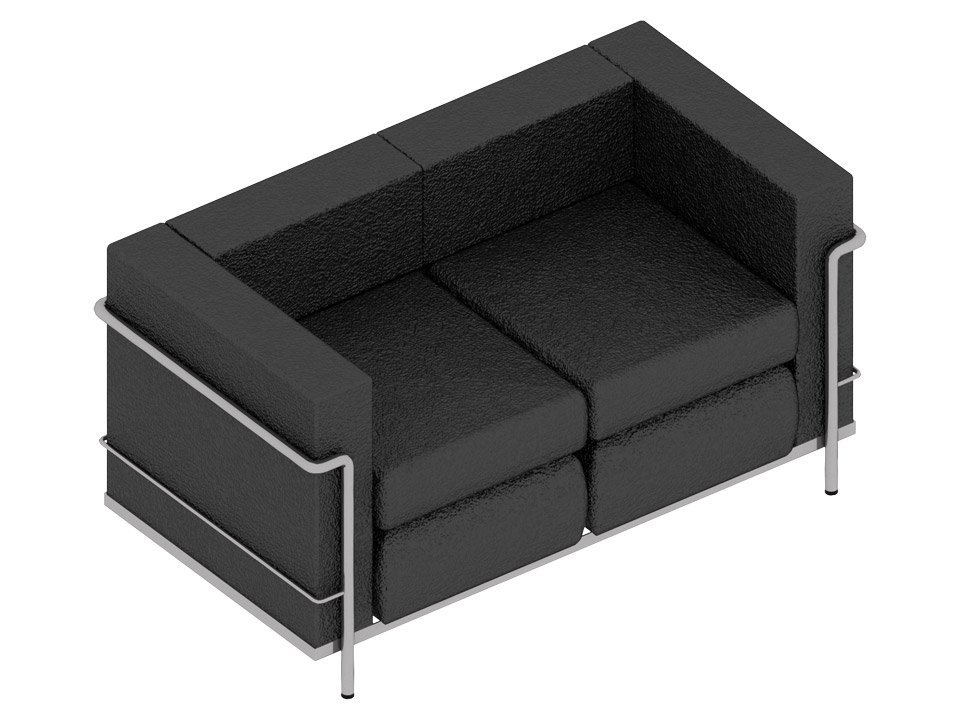 Textured BIM Model for a Sofa