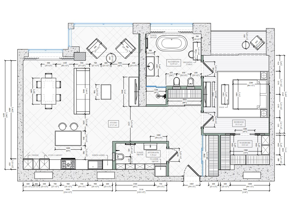 Furniture Layout on Floor Plans