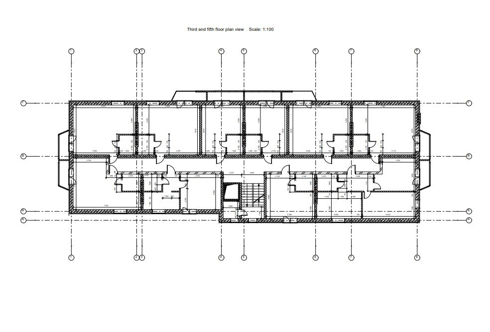 CAD Floor Plan for a Residential Architectural Project