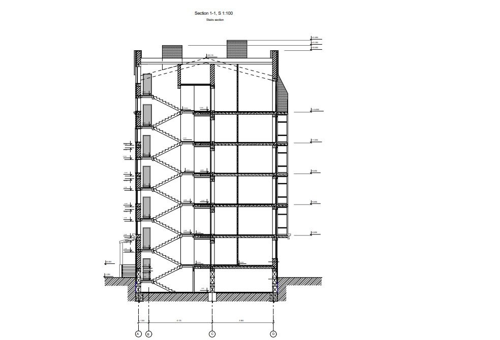 A Section View for an Architectural Project