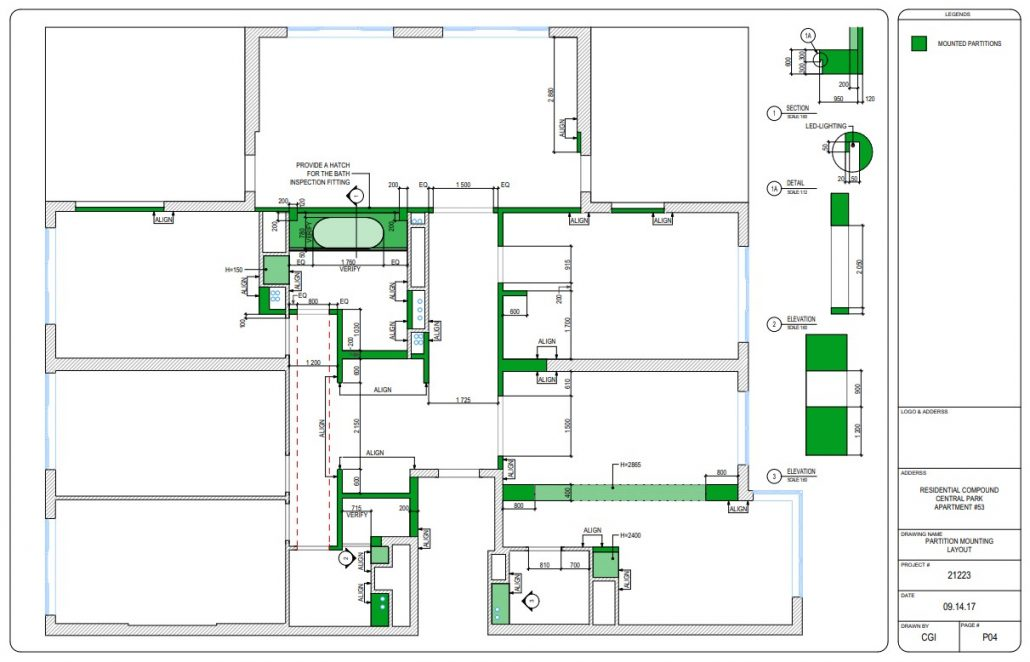 CAD Design Drawings for a Dismounting Work