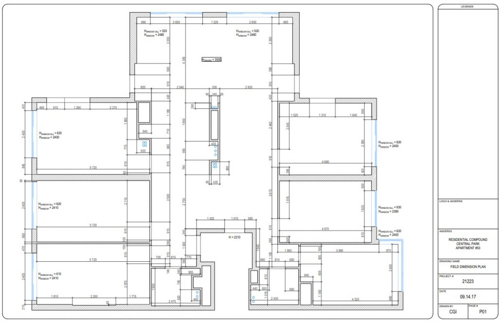 CAD Design Drawings for an Apartment Plan