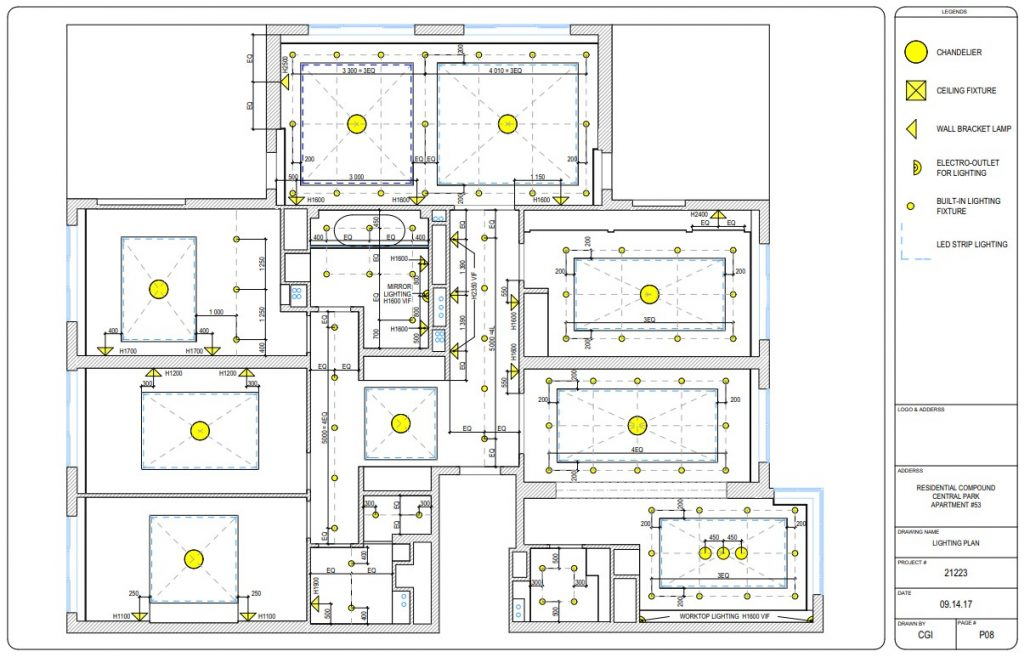 CAD Design Drawings for the Construction Process