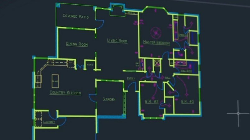 Drafting in AutoCAD for a Basic Plan