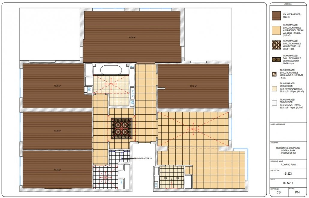 Flooring Plan for a Design Project