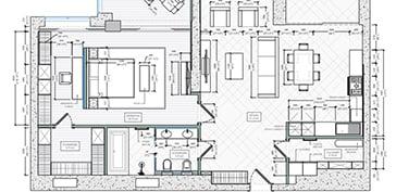 Interior Floor Plan for an Apartment