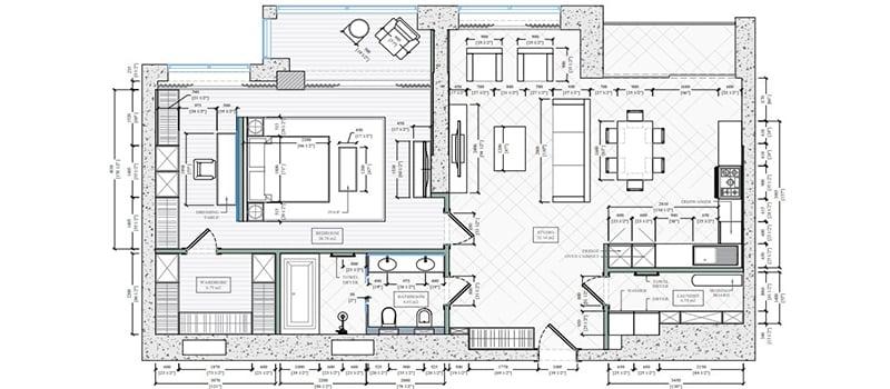 Interior Design Floor Plan for an Apartment