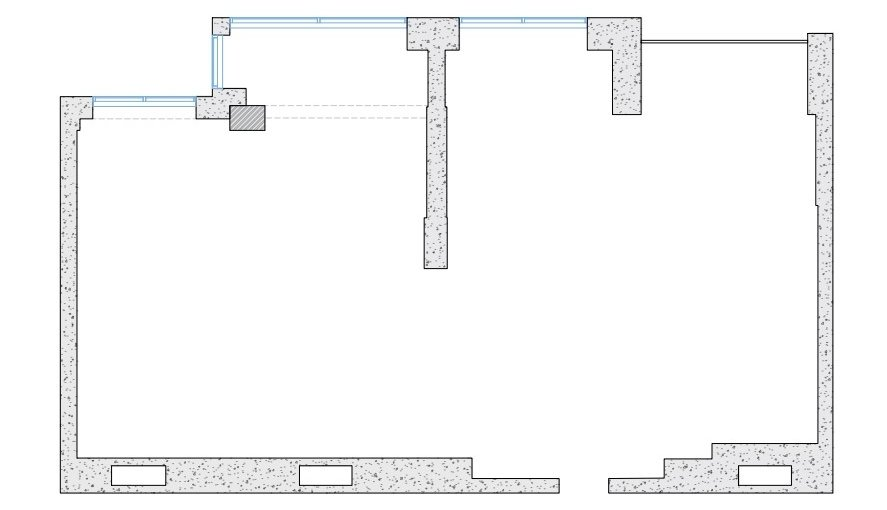 A Wall Layout on Interior Blueprints