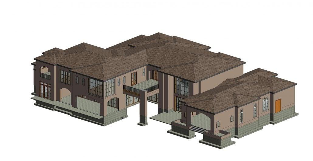 BIM Building for a House Exterior