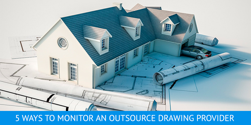 Architectural CAD Drawings for a House Exterior