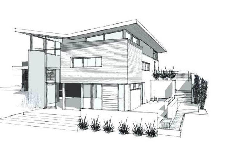 An Architectural Sketch a House CAD Drafting
