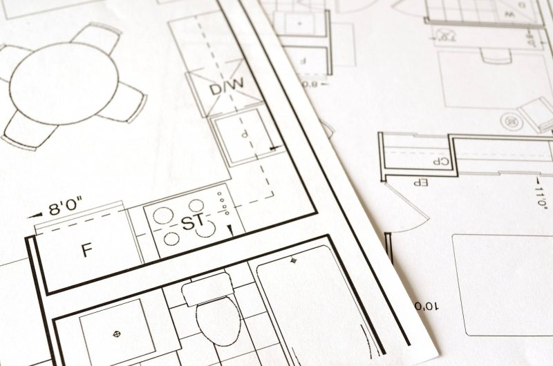 Kitchen and Bathroom Floor Plans for Renovation