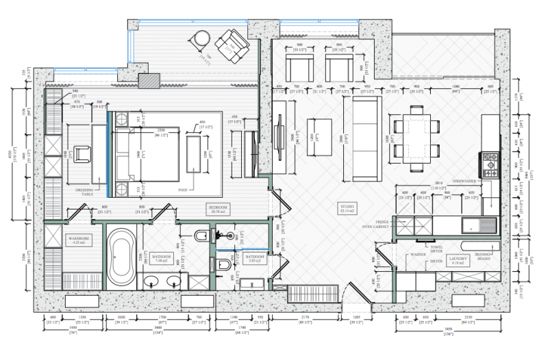 Furniture Floor Plan for Renovation
