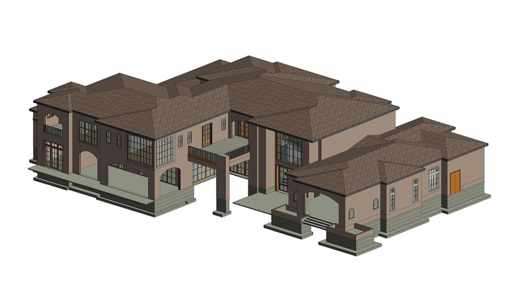 Mansion 3D Model for a Construction Project